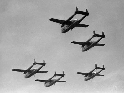 Flying Boxcars in Formation