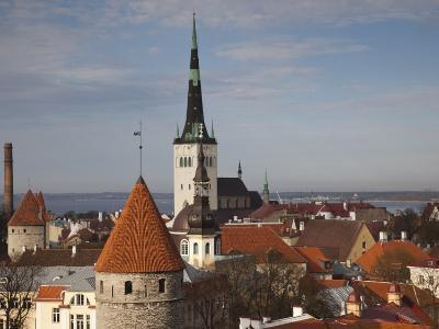 View of Old Town From Toompea, Late Afternoon, Tallinn, Estonia