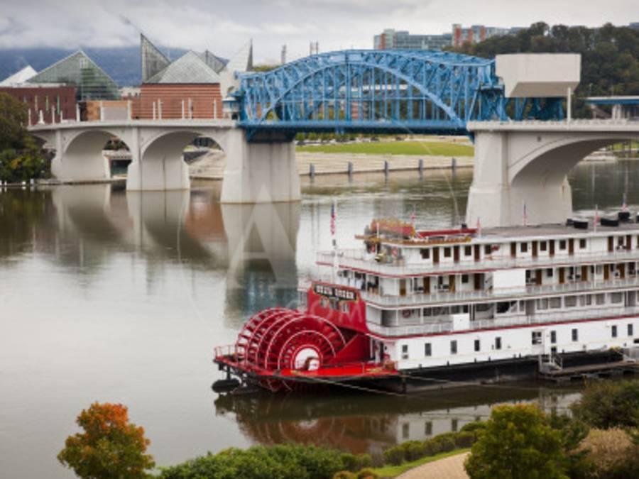Delta Queen Riverboat, Tennessee River, Chattanooga, Tennessee, USA
