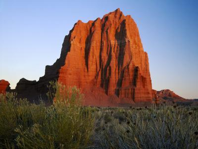 Temple of the Sun, Lower Cathedral Valley, Colorado Plateau, Capitol Reef National Park, Utah, USA
