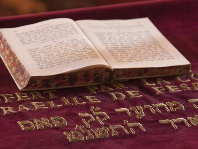 Hebrew Bible in Fes Synagogue, Morocco