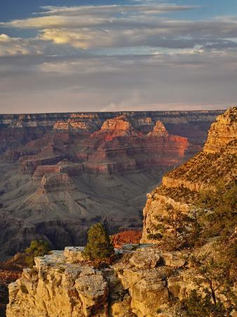 Grand Canyon From the South Rim at Sunset, Grand Canyon National Park, Arizona, USA