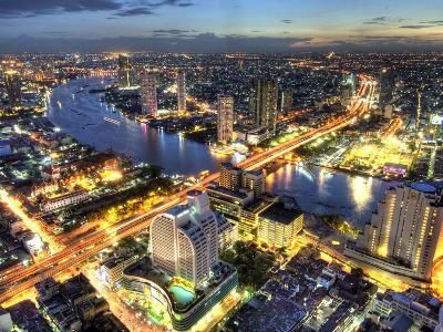 Cityscape at Dusk, Bangkok, Thailand