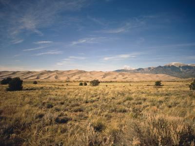 Sand Dunes of Great Sand Dunes National Park and Preserve in the Sangre De Cristo Mountains, CO