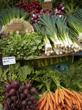 Vegetable Stall at Saturday Market, Salamanca Place, Hobart, Tasmania, Australia