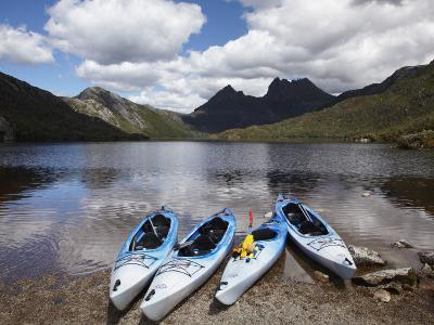 Kayaks, Cradle Mountain and Dove Lake, Lake St Clair National Park, Western Tasmania, Australia