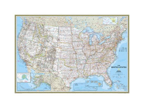 United States Political Map Posters by National Geographic Maps at ...