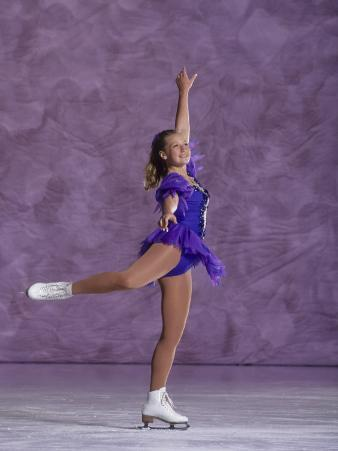 Young Female Figure Skater