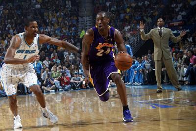 Los Angeles Lakers v New Orleans Hornets - Game Four, New Orleans, LA - April 24: Kobe Bryant and T