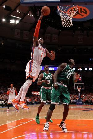 Boston Celtics v New York Knicks - Game Four, New York, NY - April 24: Amar'e Stoudemire and Kevin