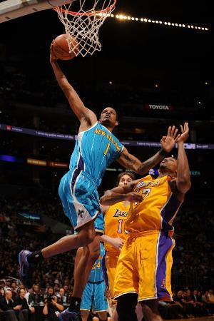 New Orleans Hornets v Los Angeles Lakers - Game Five, Los Angeles, CA - April 26: Trevor Ariza and