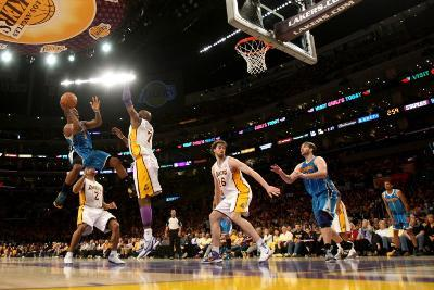 New Orleans Hornets v Los Angeles Lakers - Game One, Los Angeles, CA - April 17: Chris Paul, Lamar