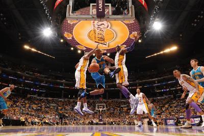 New Orleans Hornets v Los Angeles Lakers - Game One, Los Angeles, CA - April 17: Jarrett Jack, Andr