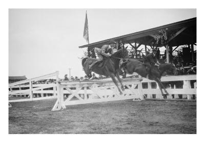 Horse Show In Washington Dc; Horses Jump Fence