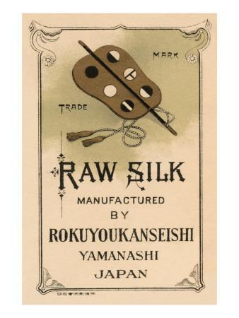 Raw Silk Manufactured By Rokuuyokanseishi, Yamanashi Japan