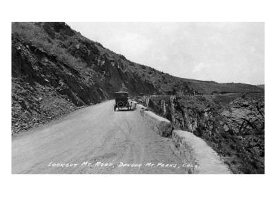 Rocky Mt Nat'l Park, Colorado - Lookout Mountain Road with Model-T