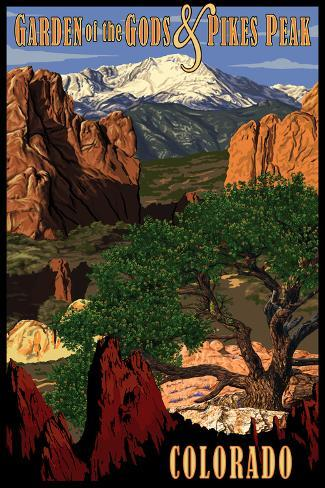 Pikes Peak from Garden of the Gods, Colorado