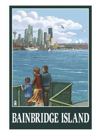 Bainbridge Island, WA - Ferry and Seattle