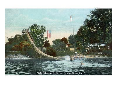 Elmira, New York - Fitches Bridge Water Toboggan