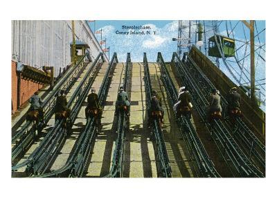 Coney Island, New York - View of Steeplechase