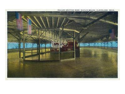 Cleveland, Ohio - Euclid Beach; Interior View of Rollerskating Rink