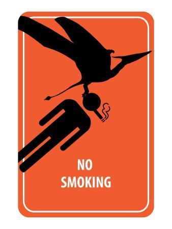 No Smoking Sign - Dinosaur Attack
