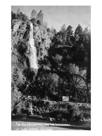 Idaho Springs, Colorado - Old Waterwheel and Waterfall