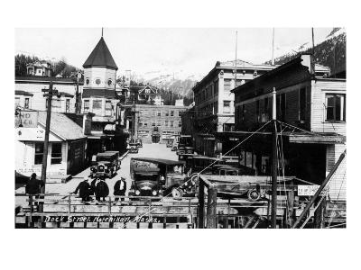 Ketchikan, Alaska - View of Dock Street