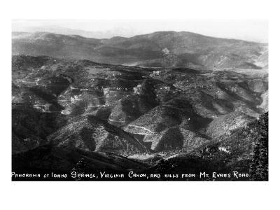 Colorado - Aerial View of Idaho Springs, Virginia Canyon from Mt Evans Road