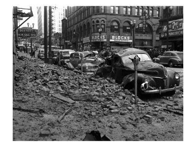 Earthquake Damage in Pioneer Square - Seattle, WA