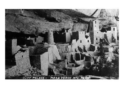 Mesa Verda Nat'l Park, Colorado - View of Cliff Palace Ruins