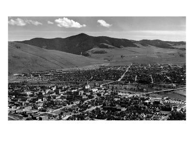Missoula, Montana - Panoramic View of Town