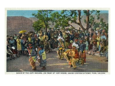 Grand Canyon Nat'l Park, Arizona - Dance of the Hopi in front of Hopi House