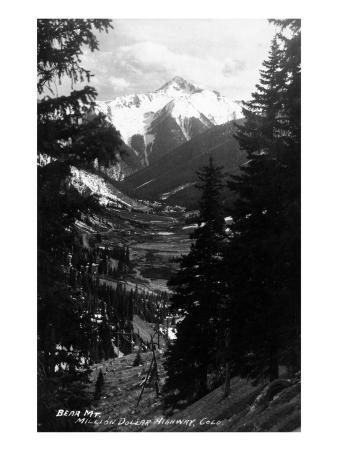 Colorado - Bear Mountain from Million Dollar Hwy