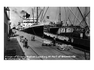 Brownsville, Texas - Ships Docked in Port