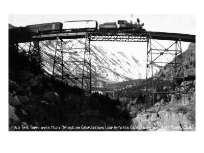 Colorado - Train on Georgetown Loop between Georgetown and Silver Plume