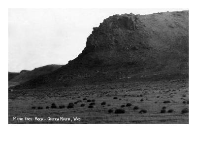 Green River, Wyoming - View of Man's Face Rock