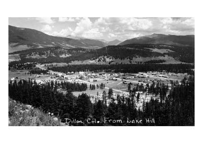 Dillon, Colorado - Panoramic View of Town from Lake Hill