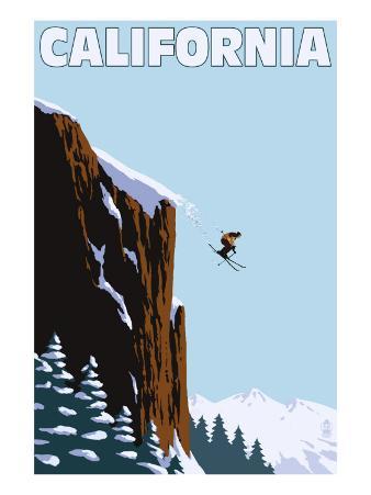California - Skier Jumping