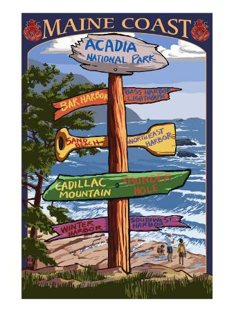 Acadia National Park, Maine - Sign Destinations