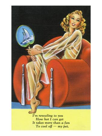 Pin-Up Girls - Girl Needs More than a Fan to Cool Her Off