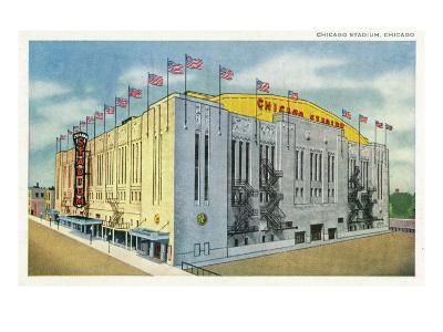 Chicago, Illinois - Chicago Stadium Exterior View