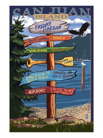 Friday Harbor, Washington - Sign Destinations