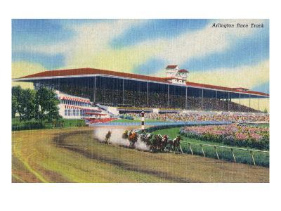 Arlington Heights, Illinois - Horse Race at Arlington Race Track