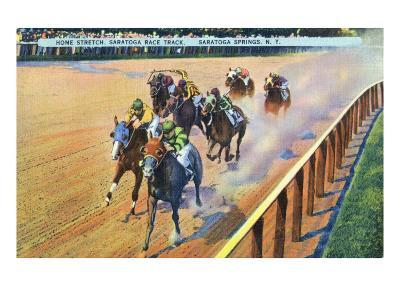 Saratoga Springs, New York - Home Stretch on the Track