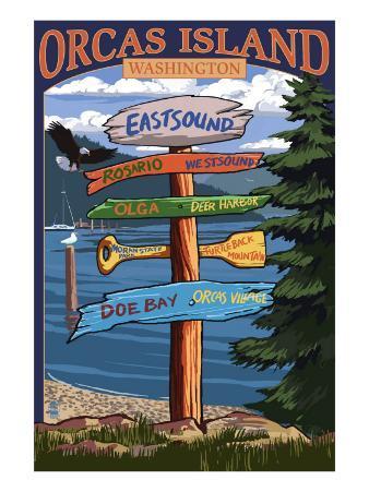 Orcas Island, WA - Destination Sign