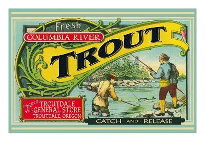 Troutdale, Oregon Trout Label