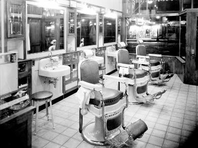 Inside a Barber Shop, 1927