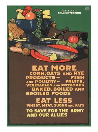 """Eat More Corn, Oats and Rye - To Save For the Army and Our Allies,"" 1918"