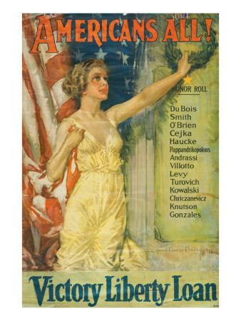 """""""Americans All!: Victory Liberty Loan"""", 1919"""